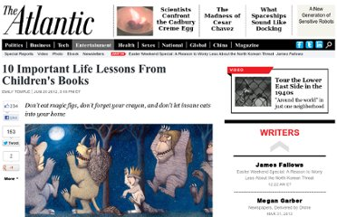 http://www.theatlantic.com/entertainment/archive/2012/06/10-important-life-lessons-from-childrens-books/258768/#slide1