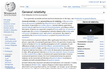 http://en.wikipedia.org/wiki/General_relativity