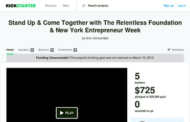 http://www.kickstarter.com/projects/566218294/stand-up-and-come-together-with-the-relentless-fou