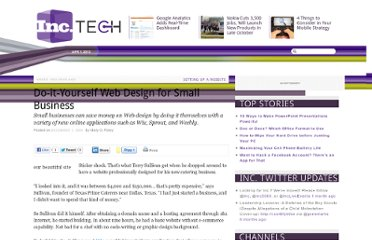 http://technology.inc.com/2008/12/01/do-it-yourself-web-design-for-small-business/