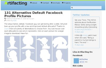 http://www.artifacting.com/2010/11/131-alternative-default-facebook-profile-pictures/