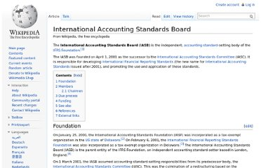 http://en.wikipedia.org/wiki/International_Accounting_Standards_Board#Foundation_of_the_IASB