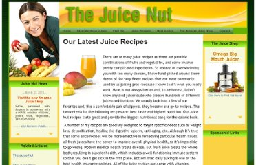 http://www.thejuicenut.com/our_latest_juice_recipes_the_juice_nut.aspx