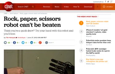 http://news.cnet.com/8301-17938_105-57461595-1/rock-paper-scissors-robot-cant-be-beaten/