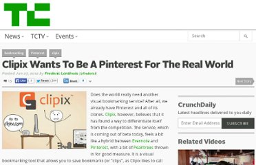 http://techcrunch.com/2012/06/27/clipix-wants-to-be-a-pinterest-for-the-real-world/