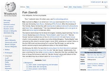 http://en.wikipedia.org/wiki/Fun_(band)