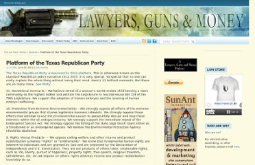 http://www.lawyersgunsmoneyblog.com/2012/06/platform-of-the-texas-republican-party