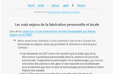 https://larlet.fr/david/biologeek/archives/20091121-les-vrais-enjeux-de-la-fabrication-personnelle-et-locale/