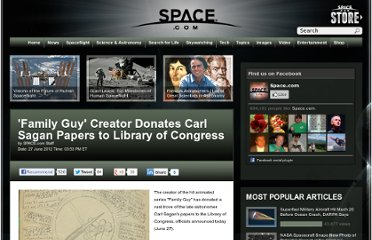 http://www.space.com/16331-carl-sagan-papers-seth-macfarlane.html