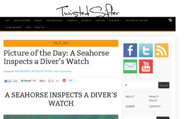 http://twistedsifter.com/2012/06/picture-of-the-day-a-seahorse-inspects-a-divers-watch/