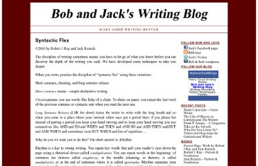 http://bobandjackswritingblog.com/writing-with-discipline/syntactic-flex-2/