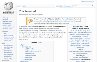 http://en.wikipedia.org/wiki/Tree_traversal