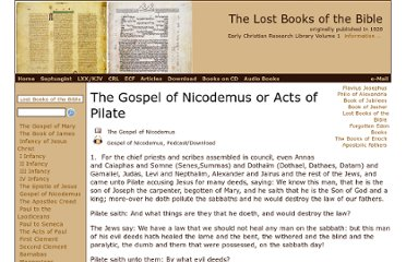 http://www.ecmarsh.com/crl/lost_books/acts_of_pilate.htm