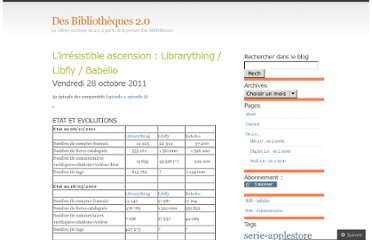 http://bibliotheque20.wordpress.com/2011/10/28/lirresistible-ascension-librarything-libfly-babelio/