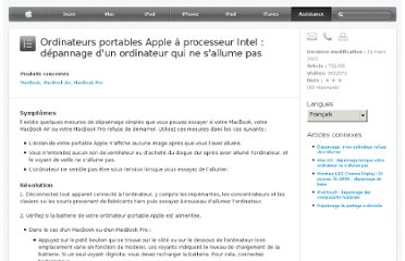 http://support.apple.com/kb/TS1365?viewlocale=fr_FR