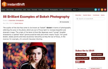 http://www.instantshift.com/2010/05/10/88-brilliant-examples-of-bokeh-photography/