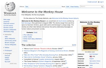 http://en.wikipedia.org/wiki/Welcome_to_the_Monkey_House