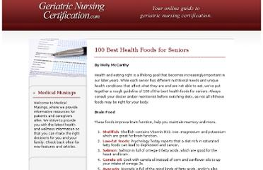 http://www.geriatricnursingcertification.com/100-best-health-foods-for-seniors/