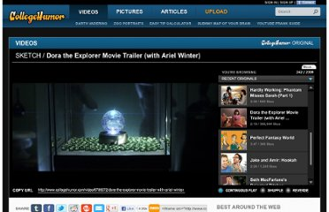 http://www.collegehumor.com/video/6789072/dora-the-explorer-movie-trailer-with-ariel-winter
