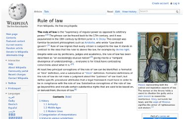 http://en.wikipedia.org/wiki/Rule_of_law