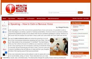 http://www.healthnewsminute.com/public-speaking-how-to-calm-a-nervous-voice.html