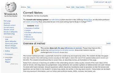 http://en.wikipedia.org/wiki/Cornell_Notes