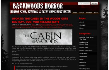 http://backwoodshorror.com/the-cabin-in-the-woods-gets-blu-ray-dvd-vod-release-date/
