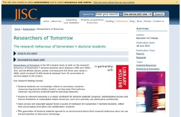 http://www.jisc.ac.uk/publications/reports/2012/researchers-of-tomorrow