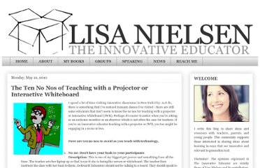 http://theinnovativeeducator.blogspot.com/2010/05/ten-no-nos-of-teaching-with-projector.html