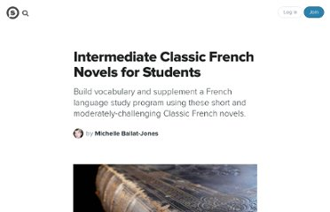 http://suite101.com/article/intermediate-classic-french-novels-for-students-a145340