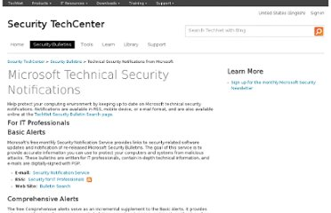 http://technet.microsoft.com/en-us/security/dd252948.aspx