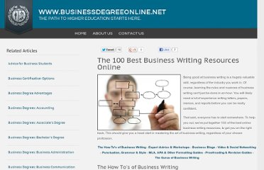http://www.businessdegreeonline.net/business-writing-resources