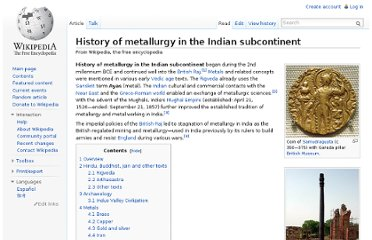 http://en.wikipedia.org/wiki/History_of_metallurgy_in_the_Indian_subcontinent