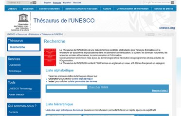http://databases.unesco.org/thesfr/