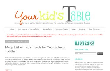 http://www.yourkidstable.com/2012/06/mega-list-of-first-finger-foods-for.html#more