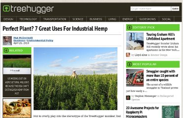 http://www.treehugger.com/environmental-policy/perfect-plant-7-great-uses-for-industrial-hemp.html