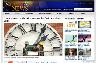 http://www.ctvnews.ca/sci-tech/leap-second-adds-extra-moment-for-first-time-since-2008-1.859302#ixzz1zDnEWXRr