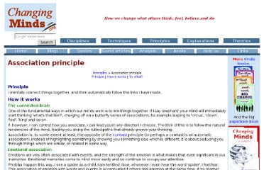 http://changingminds.org/principles/association.htm