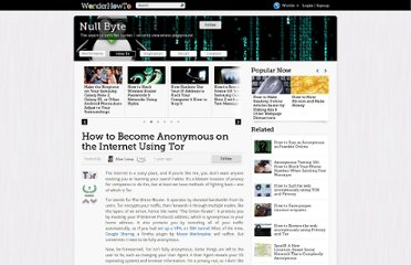 http://null-byte.wonderhowto.com/how-to/become-anonymous-internet-using-tor-0130391/