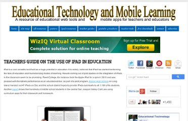 http://www.educatorstechnology.com/2012/06/teachers-guides-on-use-of-ipad-in.html#.T-5ev_HK77Q.facebook