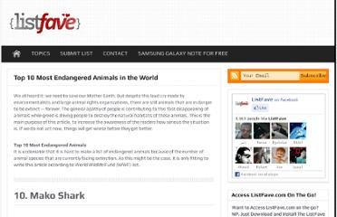 http://listfave.com/top-10-most-endangered-animals-in-the-world/