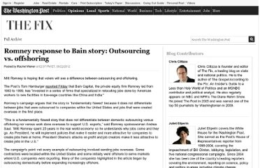 http://www.washingtonpost.com/blogs/the-fix/post/romney-response-to-bain-story-outsourcing-vs-offshoring/2012/06/22/gJQAMWVXvV_blog.html