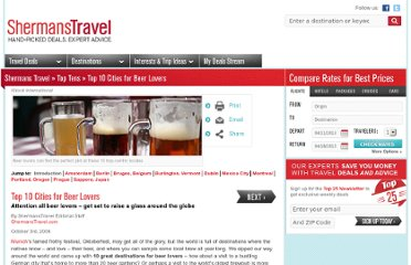http://www.shermanstravel.com/top-tens/top-10-cities-for-beer-lovers?refer=D-S-ROS-Travel-TT-Beer