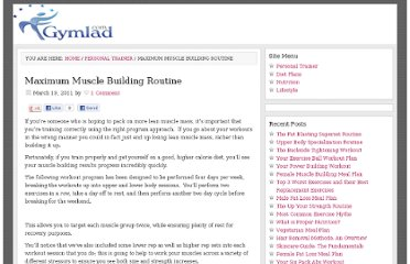 http://gymlad.com/maximum-muscle-building-routine/