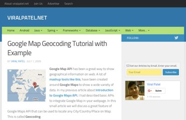 http://viralpatel.net/blogs/google-map-geocoding-tutorial-example/