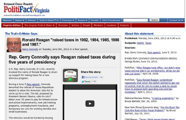 http://www.politifact.com/virginia/statements/2012/jun/25/gerry-connolly/rep-gerry-connolly-says-reagan-raised-taxes-during/