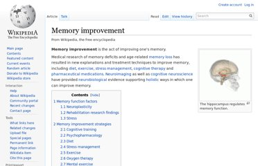 http://en.wikipedia.org/wiki/Memory_improvement