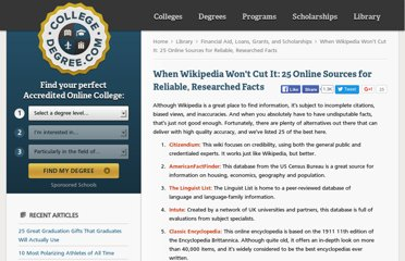 http://www.collegedegree.com/library/financial-aid/25-online-resources-for-reliable-researched-facts