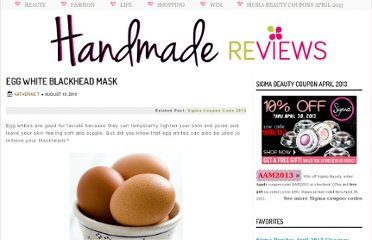 http://www.handmadereviews.net/2010/08/egg-white-blackhead-mask.html