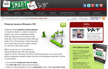 http://www.smartpassiveincome.com/passive-income-streams-101/